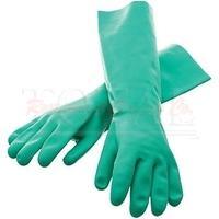 Small San Jamar 19NU-S Nitrile Elbow-Length Dishwashing Glove 1 Pair
